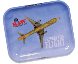 RAW - Metal Rolling Trays - FLYING HIGH Design - RAWT-FLYING