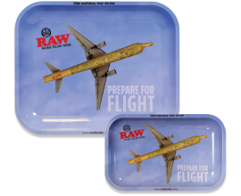 RAW | Metal Rolling Trays | FLYING HIGH / PREPARE FOR FLIGHT | Various Sizes | RAWT-FLYING