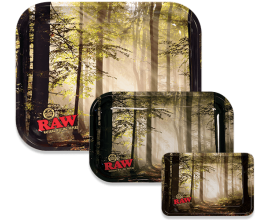 RAW | Metal Rolling Trays | SMOKEY FOREST | Various Sizes | RAWT-FOREST