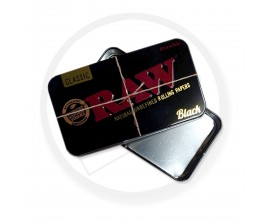 RAW | 2oz Tobacco Tin | BLACK | 1 x Single