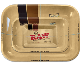 RAW | Metal Rolling Trays | CLASSIC | Various Sizes | RAWT