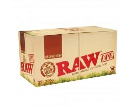 RAW - Organic Kingsize Cones 3 Pack (32 x 3) - RAWC3ORG