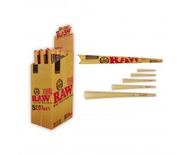 RAW   5 Stage RawKet Cone Kit   Box of 15 Packs   5 Cones Per Pack   RAWCKET