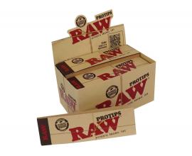 RAW | PROTIPS Extra Large Roach | 21 Tips Per Booklet | 24 Booklets | RAWPROTIP