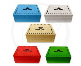 Wooden Rolling Boxes | Large Size | Mixed Colours | RB3
