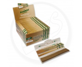 Rizla - BAMBOO K/S SLIM Connoisseur (Combi Pack) with Roach (24 Packs, 32 Leaves Per Pack) - RIZCON-BAMBOO