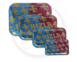 Rizla | Metal Rolling Trays | MULTICOLOUR RIZLA LOGO | Various Sizes