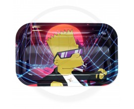 Smoke Arsenal Rolling Tray - LARGE (28cm x 18cm) - BART VAPOUR WAVE