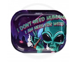 Smoke Arsenal Rolling Tray - SMALL (18cm x 14cm) - HERE FOR THE WEED