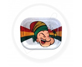 Smoke Arsenal Rolling Tray - SMALL (18cm x 14cm) - RASTA POTEYE