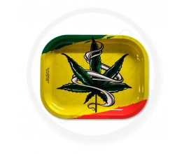 Smoke Arsenal Rolling Tray - SMALL (18cm x 14cm) - RASTA FOREVER