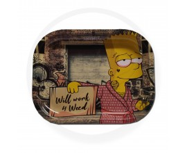 Smoke Arsenal Rolling Tray - SMALL (18cm x 14cm) - WILL WORK 4 WEED