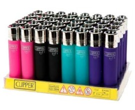Clipper Lighters | Soft Touch | Tray of 40 | CLIPSFLINT