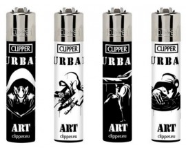 Clipper Lighters | Urban Art | Tray of 40 | CLIPURBAN
