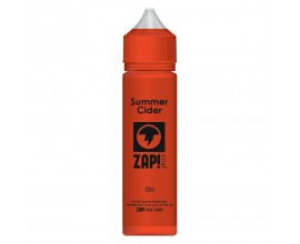 ZAP! Juice - Summer Cider - 50ml Shortfill - ZERO Nicotine (Includes 1 x 18mg ZAP! Nic Salt Shot)