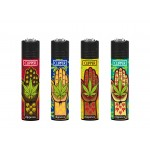 Clipper Four Twenty Collections | Lighter & Paper Combi Pack | Hand Weed Design | CLIP420DUO-HANDWEED
