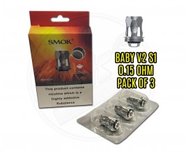 SMOK - Baby V2 Coils - S1 (Single Mesh) 0.15 Ohm - Pack of 3