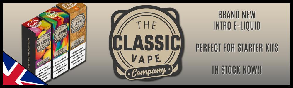 The Classic Vape Company - Fantastic New 50/50 Starter Range